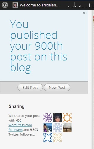 900th Blog Post
