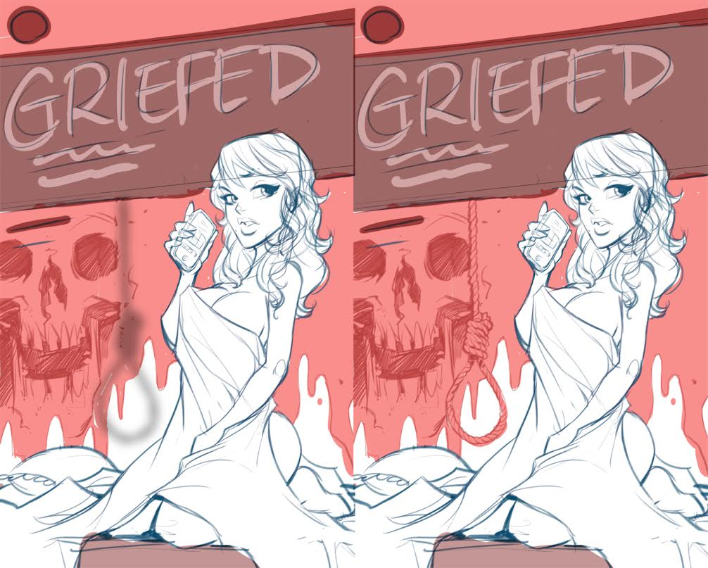Griefed cover sketches