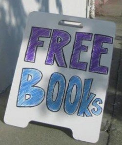 Free Books sign
