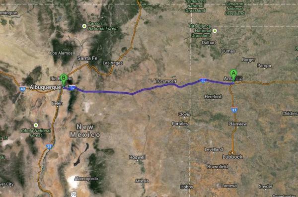 Amarillo to Albuquerque