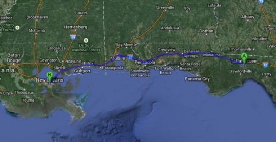 Day 10 Tallahassee to NOLA