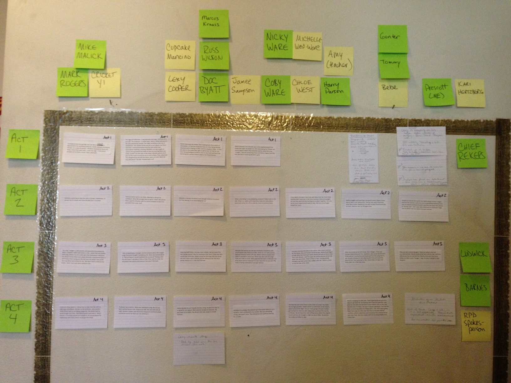 screenwriting tip index cards go into the story