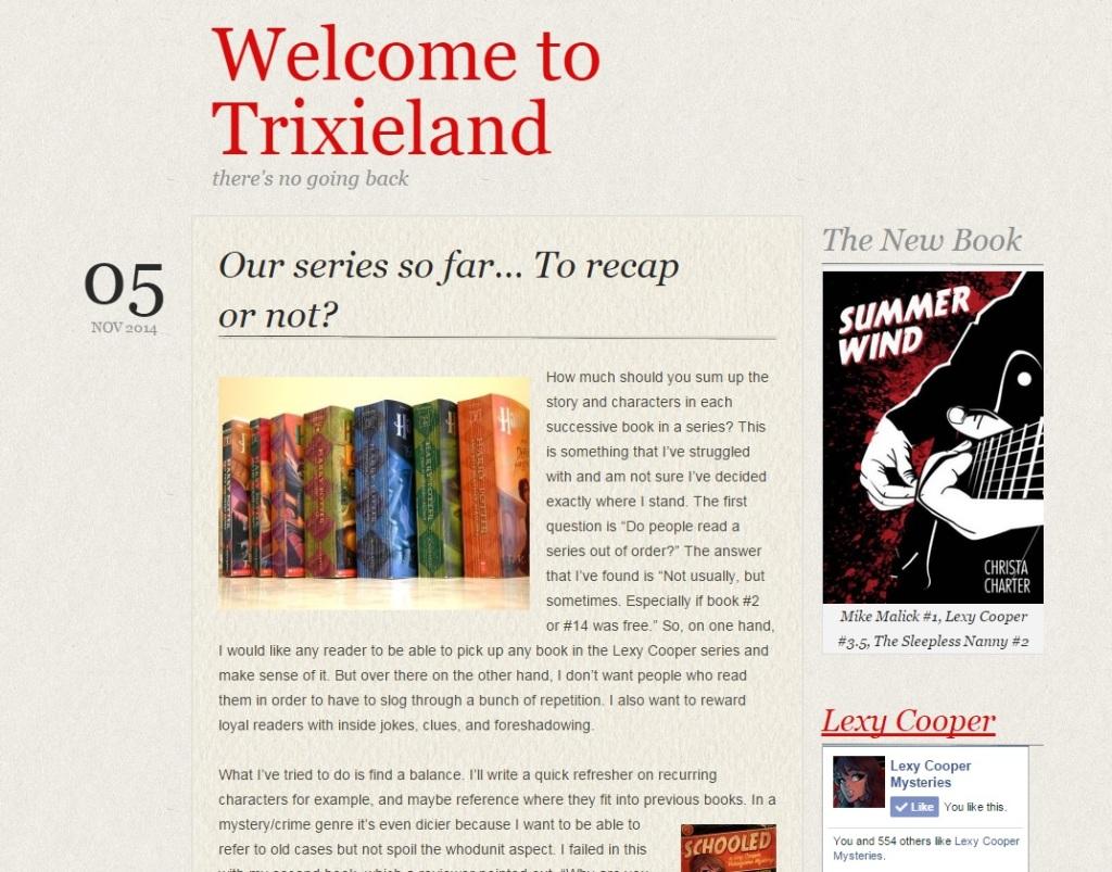 Release Day - Update trixieblog