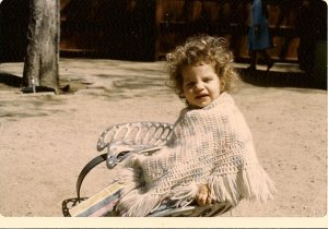 What's more messed up: My curls or my poncho?