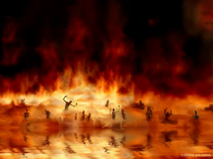 Satan-In-The-Lake-Of-Fire
